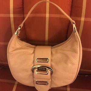 NWOT Michael Kors shoulder satchel beige leather